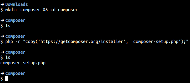 Cara Install Composer direktori-install-composer
