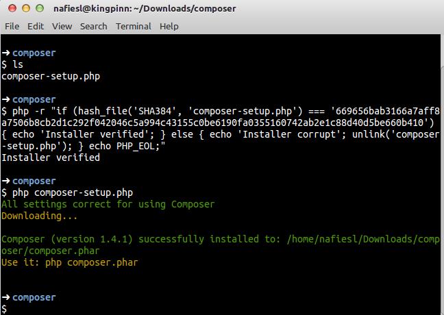 Cara Install Composer verifikasi-setup-install-composer