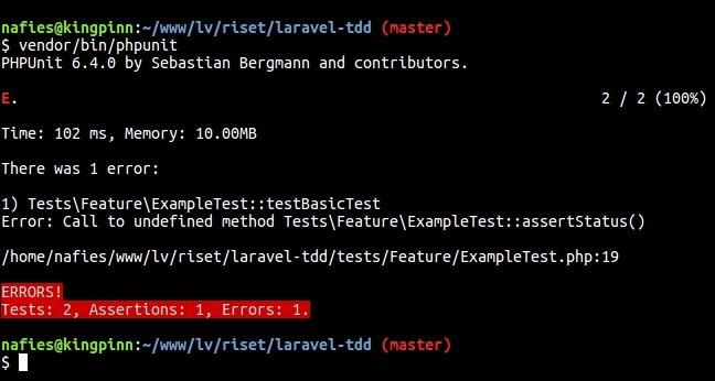 Testing Error Browser Kit Testing