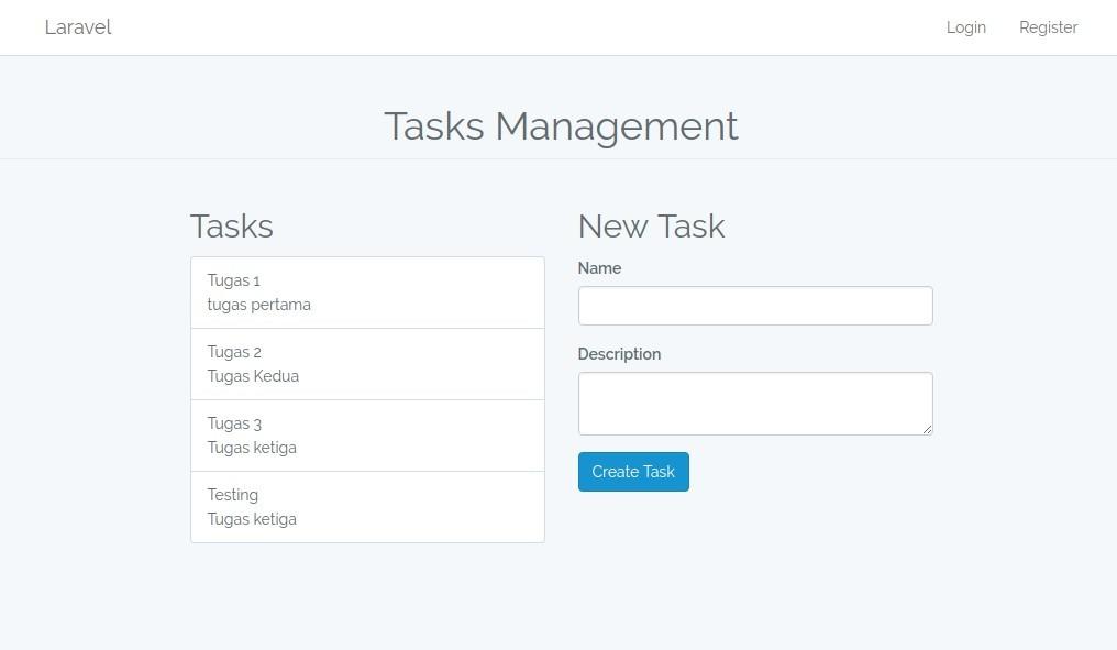 tasks.index setelah diperbaiki