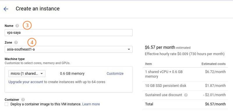 Google Cloud Engine Form 1