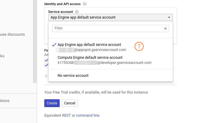 Google Cloud Engine Identity and API access
