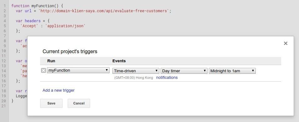 Google App Script Trigger