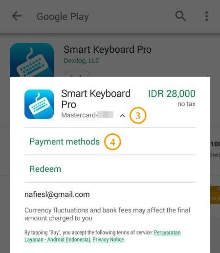 Pilih Payment Method