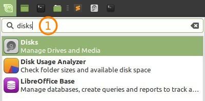 Run Gnome Disk Utility