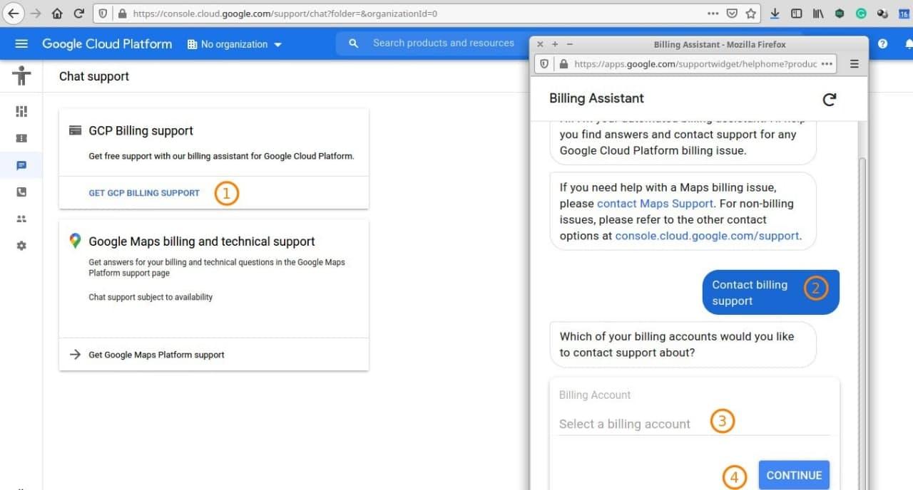 Customer Support Google Cloud Platform